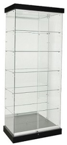 TF-900MR-PEL 2100 High Mirror Back Frameless Upright Showcase 2