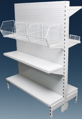 Flat Pegboard Double Sided 1200mm Narrow Aisle Gondola Units