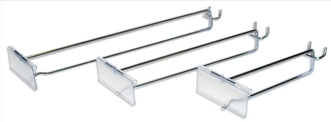 Flat Panel Peg Board Flipper Hooks