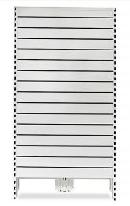 Narrow Metal Slat Panel Feature Bay