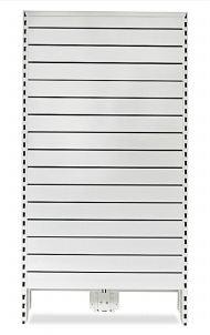 Narrow Metal Slat Panel Feature Bay