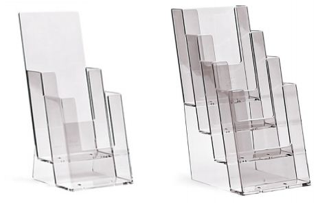 Tiered 1/3 A4 Brochure Holders