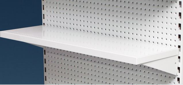 32mm High Flat Front Metal Shelf Options With Angle Adjustable Brackets 900mm