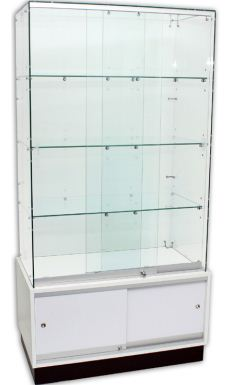 Frameless Showcases with Storage – 900mm width