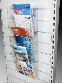 A4 & Double A4 Multi Tier Brochure Holders for Slat Panel