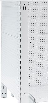 Narrow Flat Metal Panel Pegboard Feature Bay