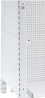 Narrow Flat Metal Panel Pegboard Feature Bay