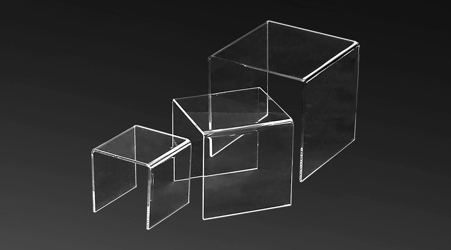 Acrylic Stepped Risers – set (3)