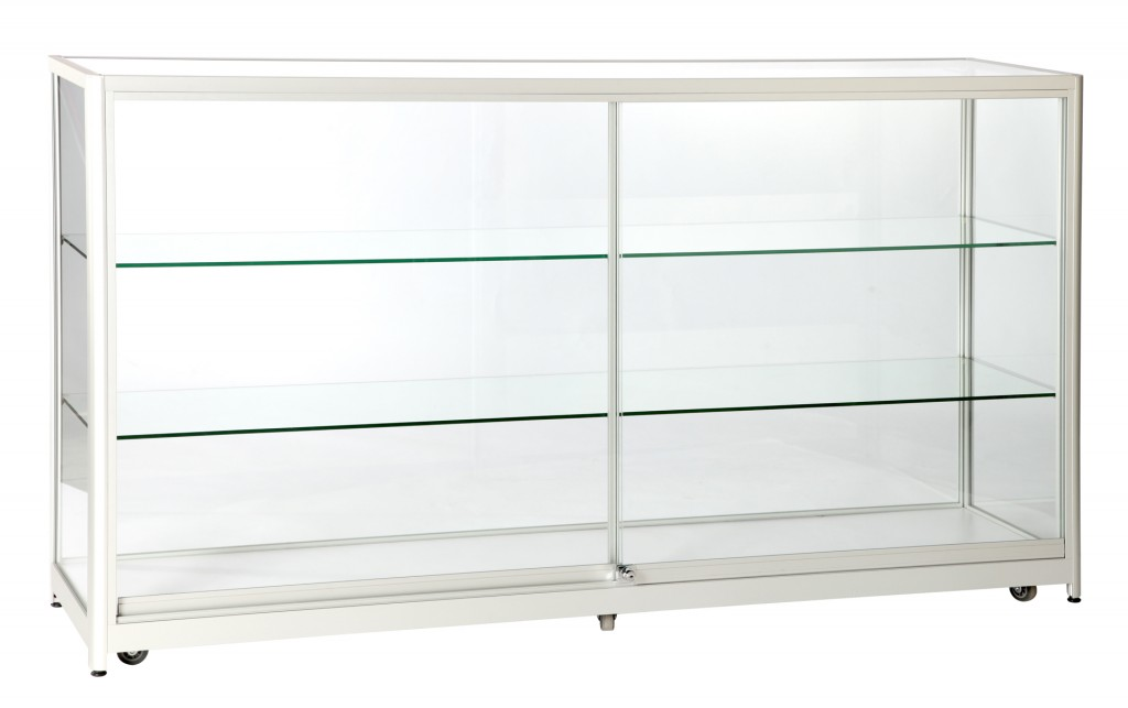 Flat Packed Display Glass Counter Showcases