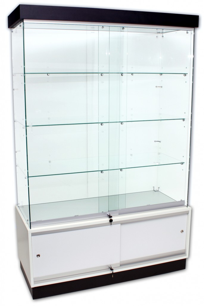 Frameless Showcases with Storage – 1200mm width