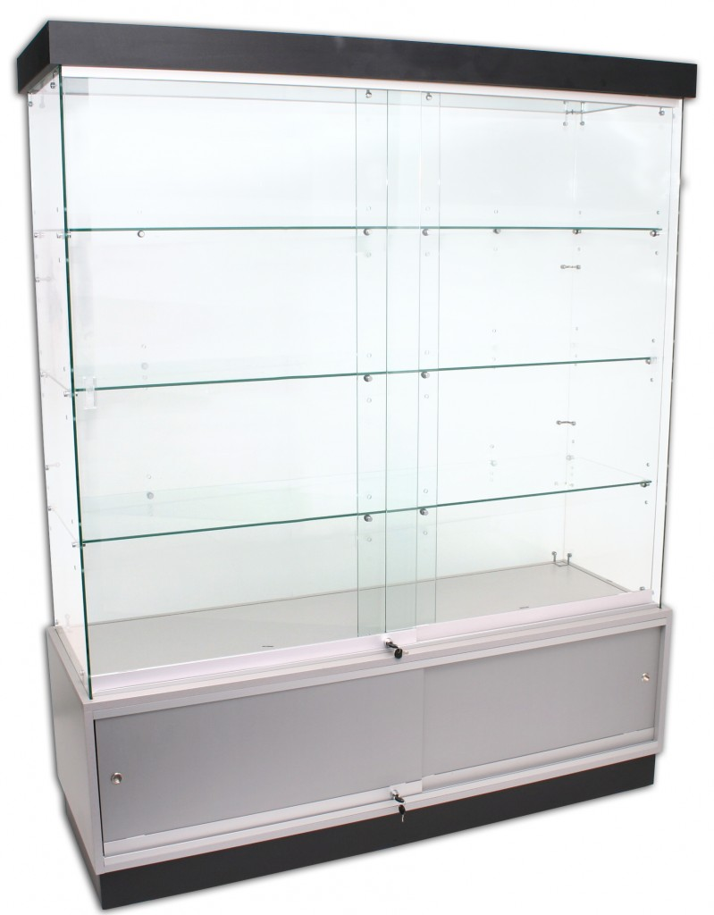 Frameless Showcases with Storage – 1500mm width