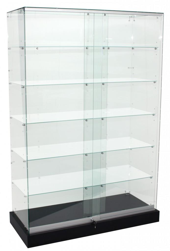 Deluxe Frameless Upright Glass Showcases – 1200mm, 1500mm & 1800mm