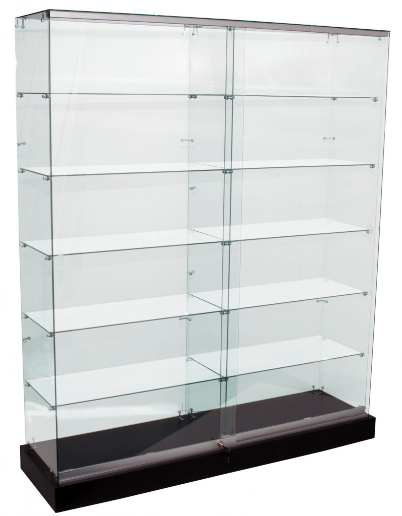 Frameless Upright Glass Showcases – 1500 & 1800mm