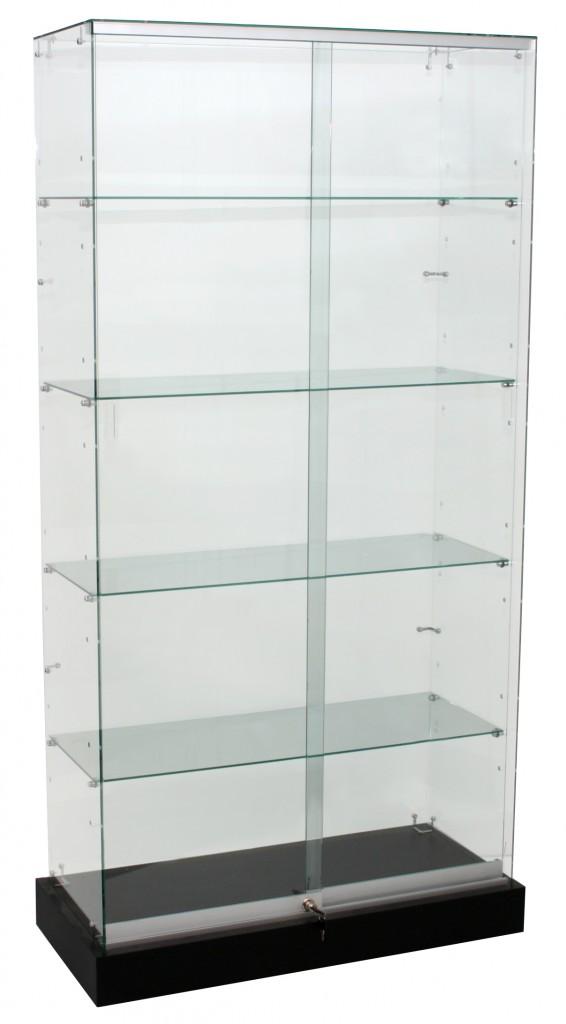 Frameless Upright Glass Showcases – 900 & 1200mm Frameless