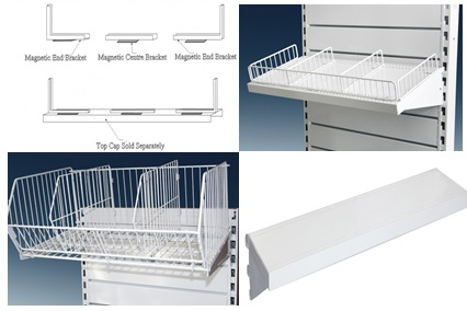 Upper Shelves, Wire Baskets & Kick Plates