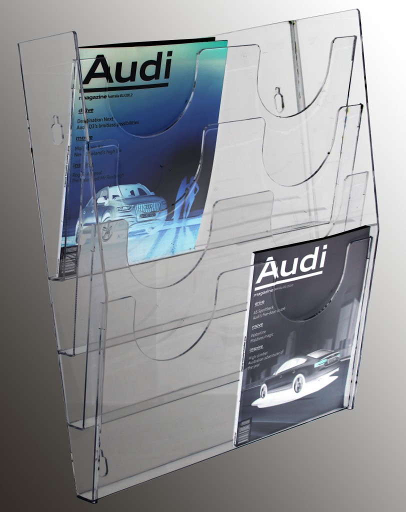 Double A4 Multi Tier Brochure Holders