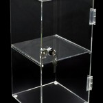 clear Perspex acrylic display units