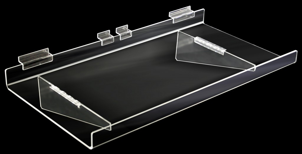 Heavy Duty Flat Acrylic Shelves with 35mm Lip