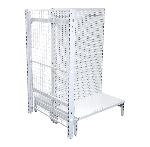 Mesh Back Panel Pegboard Feature Bay