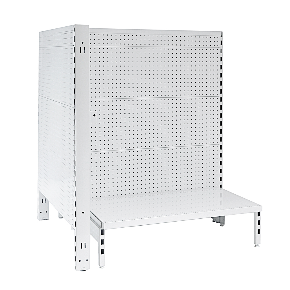 Flat Metal Panel Pegboard Feature Bay