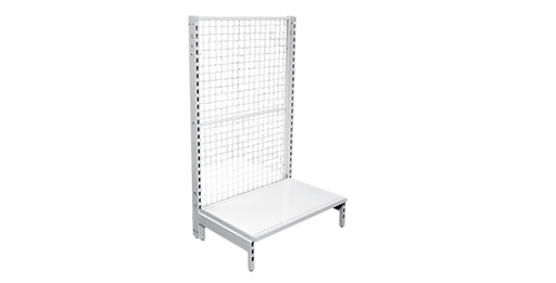 550mm Deep Mesh Back Panel Single Sided Gondola Bays