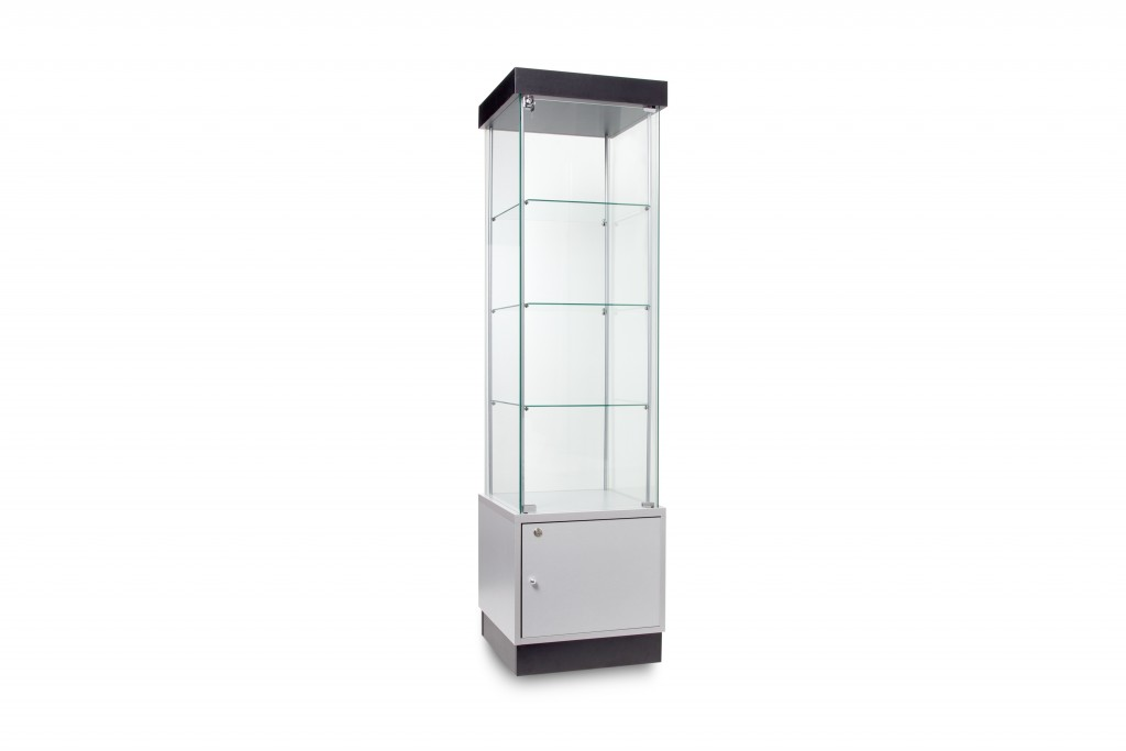 Semi Frameless Tower Cabinets with Storage