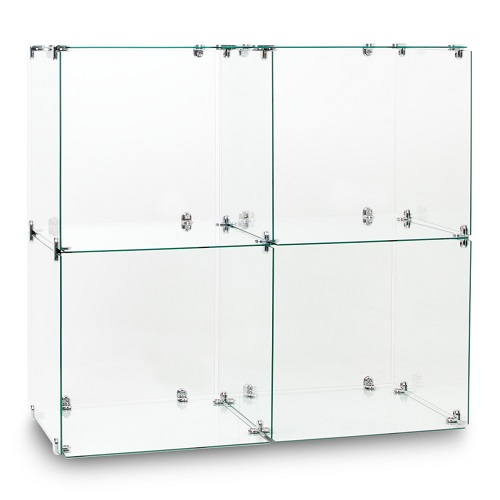Twin Glass Cube Displays