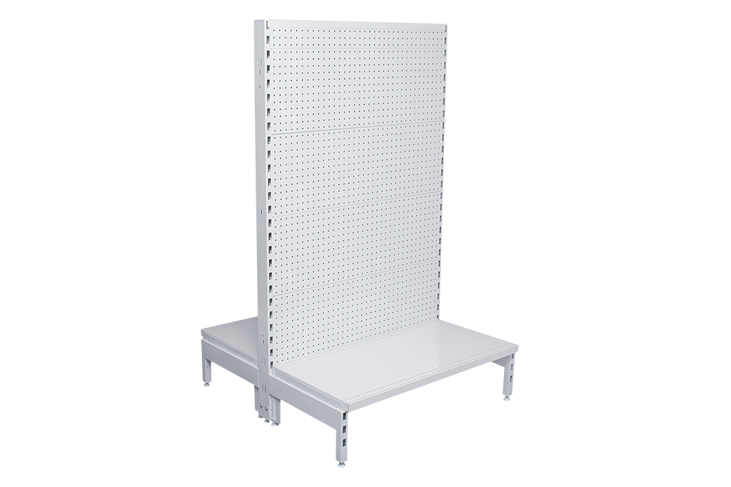 Flat Pegboard Double Sided 600mm Gondola Units