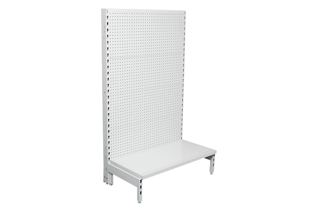 Flat Pegboard Single Sided 600mm Gondola Units