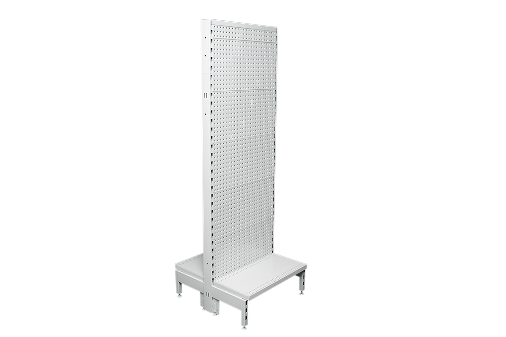 Flat Pegboard Double Sided 600mm Narrow Aisle Gondola Units