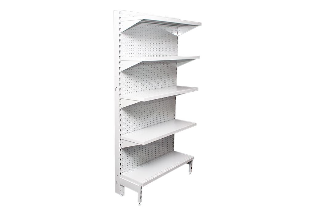 Flat Pegboard Single Sided 1200mm Narrow Aisle Gondola Units