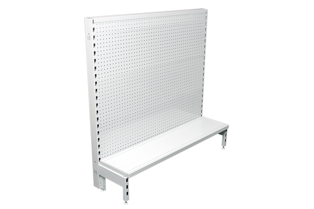 Flat Pegboard Single Sided 600mm Narrow Aisle Gondola Units