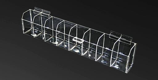 Slatwall Acrylic Bins