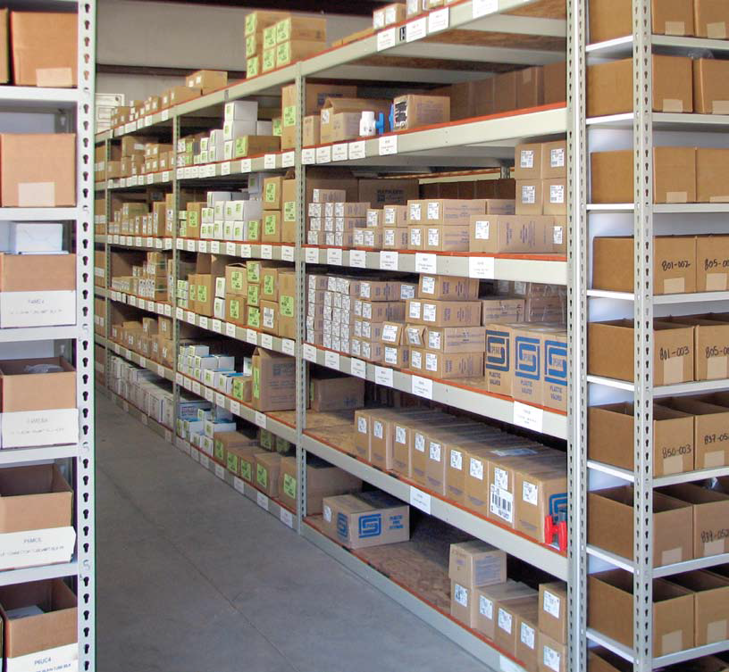 Warehouse shelving solution
