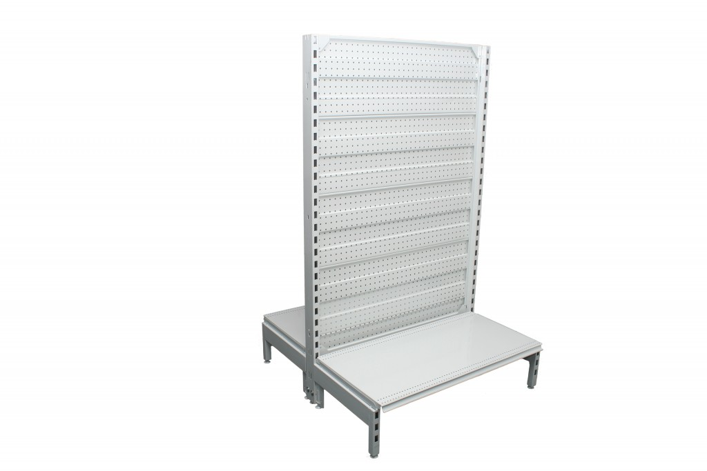 Dual Flat Pegboard Double Sided 900mm Bays
