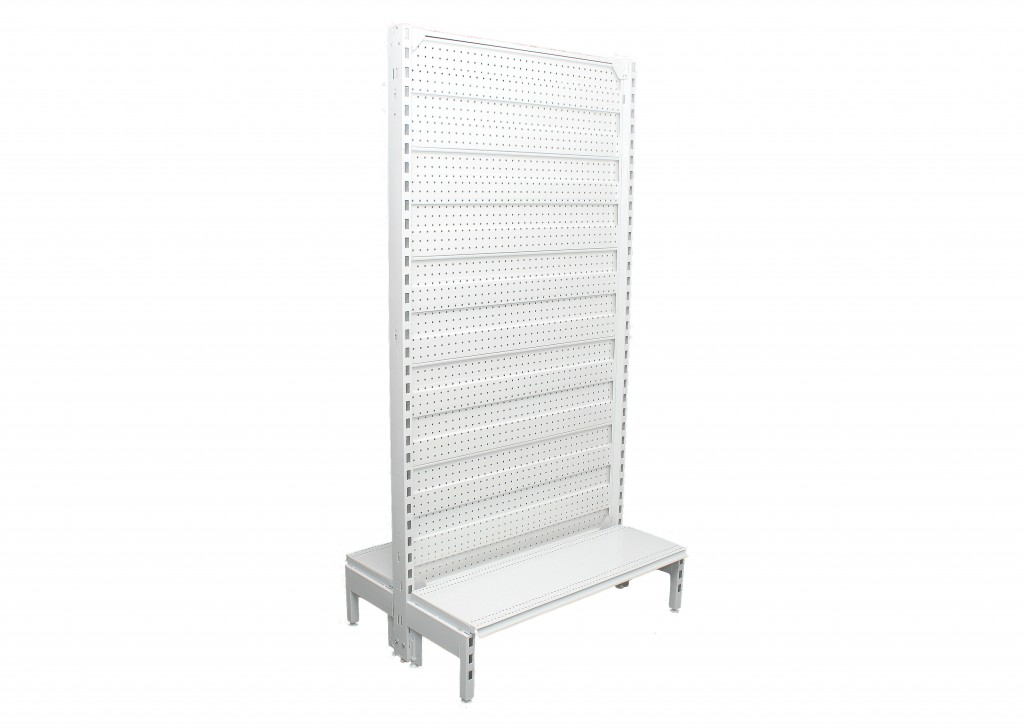Narrow Dual Flat Pegboard Double Sided 900mm Bays