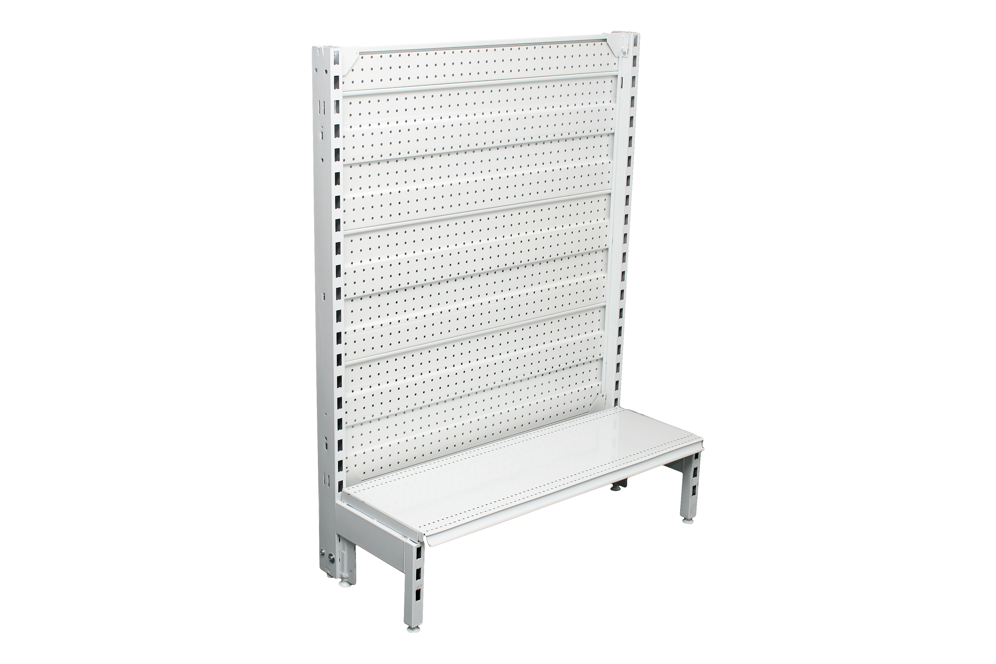 Narrow Dual Flat Pegboard Single Sided 900mm Bays