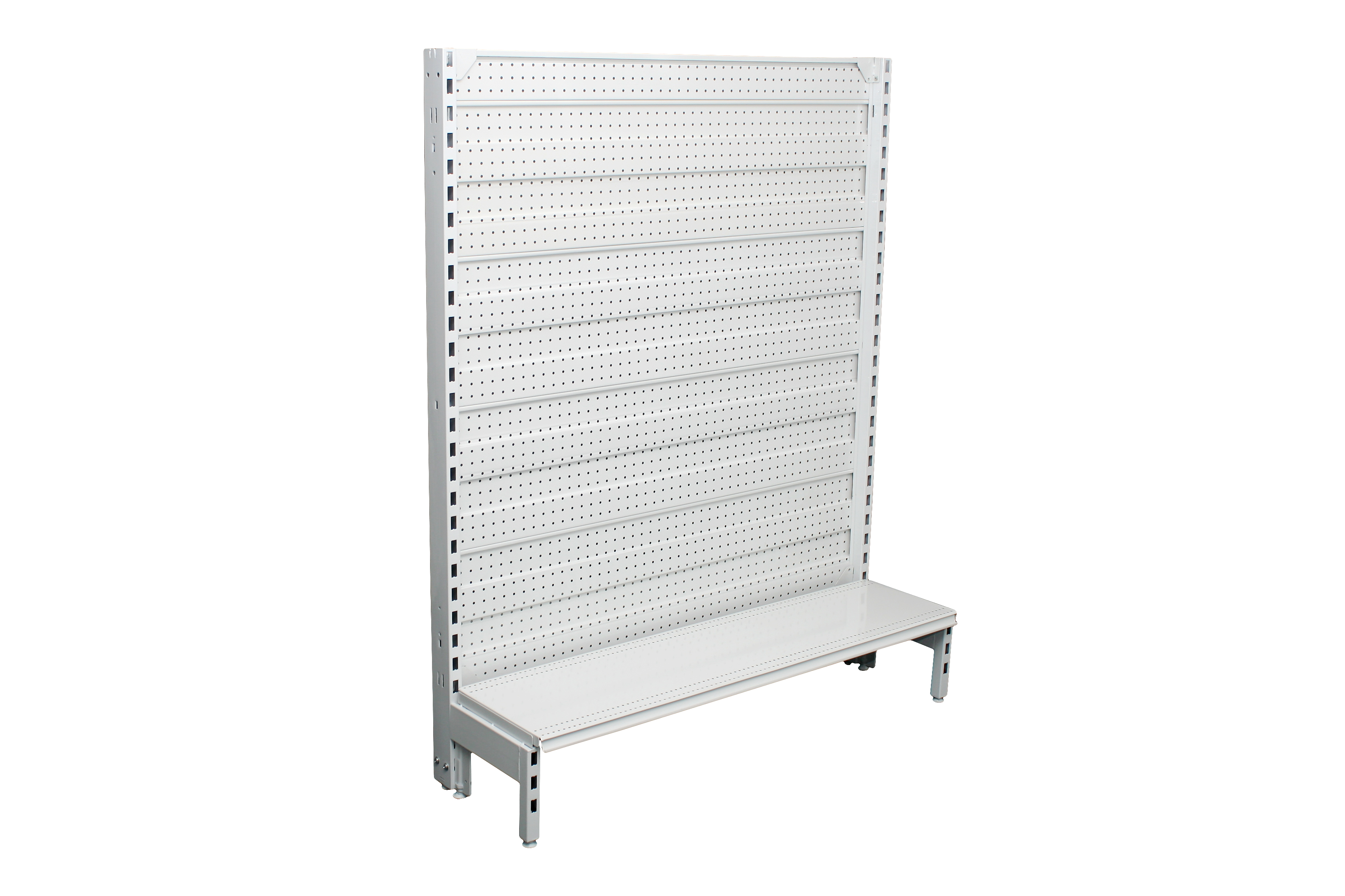 Narrow Dual Flat Pegboard Single Sided 1200mm Bays