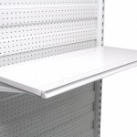 400mm Shelf With Inbuilt Data Strip Holder