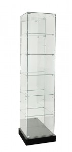TF-510MR 2100 H Mirror Back Frameless Tower With Hinged Door