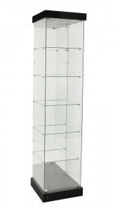 TF-510MR-PEL 2100 H Mirror Back Frameless Tower With Hinged Door & Pelmet