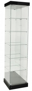 TF-510MR-PEL 2100 High Mirror Back Frameless Tower With Hinged Door & Pelmet Thumb