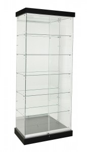 TF-900MR-PEL 2100 High Mirror Back Frameless Upright Showcase