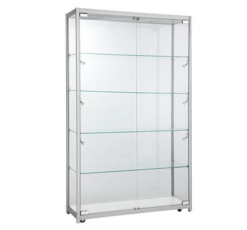Aluminium Framed Upright Glass Showcase