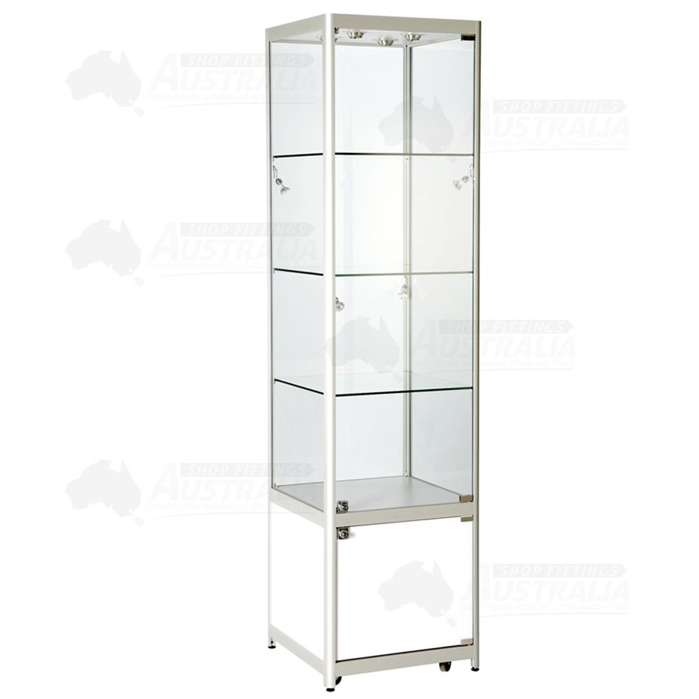 Merveilleux ... Glass Tower Showcase With Cabinet. PrevNext